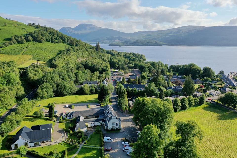 The tranquil Loch Lomond Arms Hotel that looks over Luss Water. [Photo: Loch Lomond Arms Hotel]