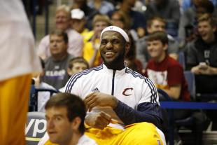 James' return to Cleveland has a lot of people smiling. (AP)
