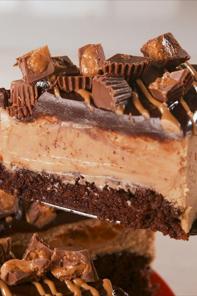 """<p>Your eyes aren't mistaking you. </p><p>Get the recipe from <a rel=""""nofollow"""" href=""""https://www.delish.com/cooking/recipe-ideas/a19637832/best-chocolate-peanut-butter-cheesecake-recipe/"""">Delish</a>.</p><p><a rel=""""nofollow"""" href=""""https://www.amazon.com/Calphalon-Nonstick-Bakeware-Spring-9-inch/dp/B008BULFWS"""">BUY NOW</a><em><strong>Springform Pan, $21; <br></strong></em></p>"""