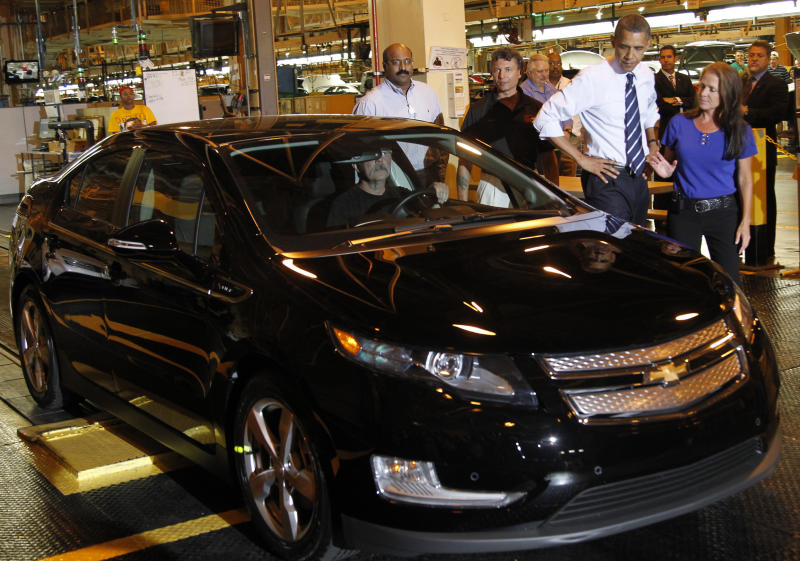 President Barack Obama loved to talk about the Volt and his administration took steps to support vehicles like it.  (ASSOCIATED PRESS)