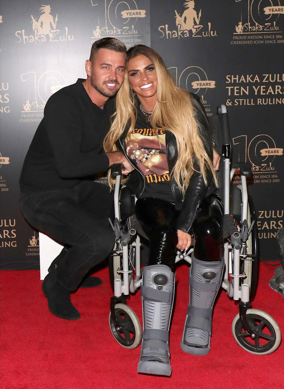 Carl Woods and Katie Price pictured at an event in September 2020 (Photo: Mark R Milan/Shutterstock)