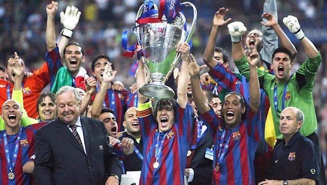 <p>2016/17 is the 27th season in which Barcelona participates in the Champions League, 5 of them having lead to a final victory (1992, 2006, 2009, 2011, 2015).</p> <br><p>With five Champions League victories, Barcelona has the 3rd all-time biggest total with Bayern Munich and Liverpool. They also lost three finals, in 1961 (against Benfica), in 1986 (against Steaua Bucarest) and in 1994 (against AC Milan). </p>
