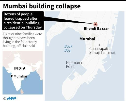 Mumbai building collapse kills 12 after heavy rains