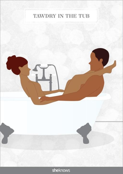 If you partner isn't a bath person, this position may change their mind.