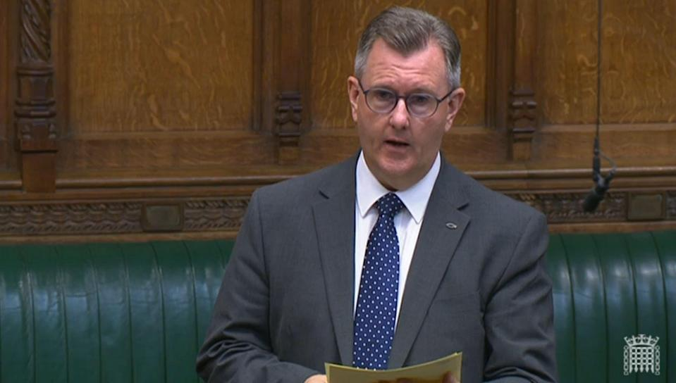DUP leader Sir Jeffrey Donaldson (House of Commons/PA) (PA Wire)