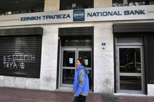 Top two Greek banks post nine-month losses