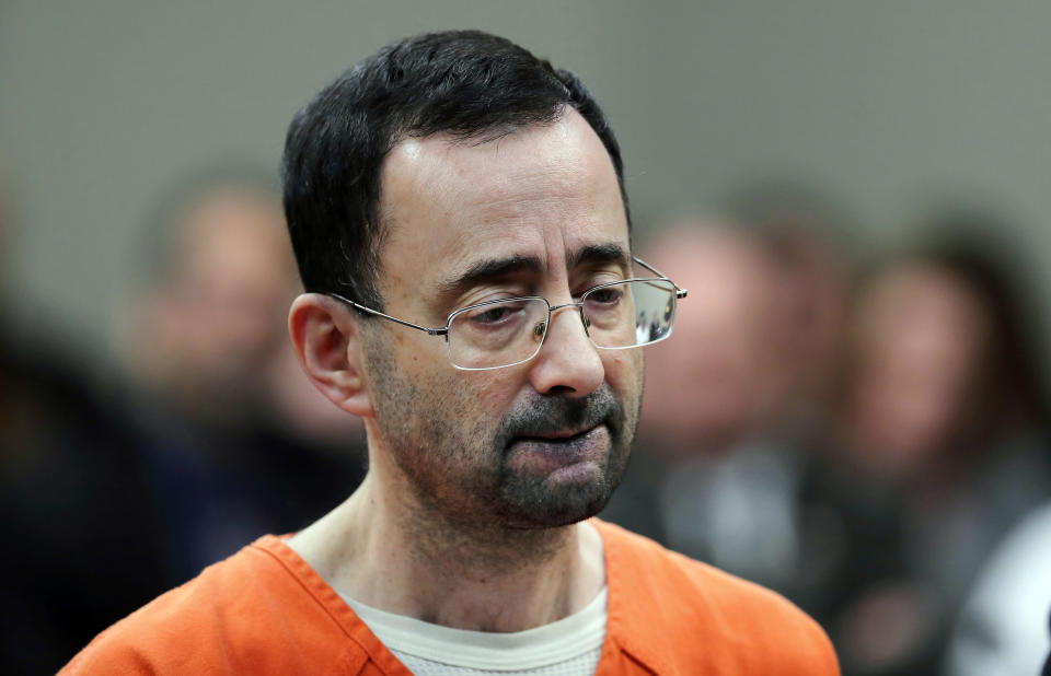 Michigan State will pay $500 million to Larry Nassar's victims. (AP Photo)