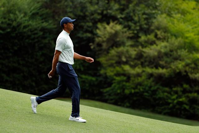 "<div class=""caption""> Tiger Woods walks on the 12th hole during the second round of the 2019 Masters. </div> <cite class=""credit"">Kevin C. Cox/Getty images</cite>"