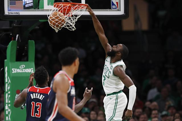 Celtics win high-scoring affair with Wizards