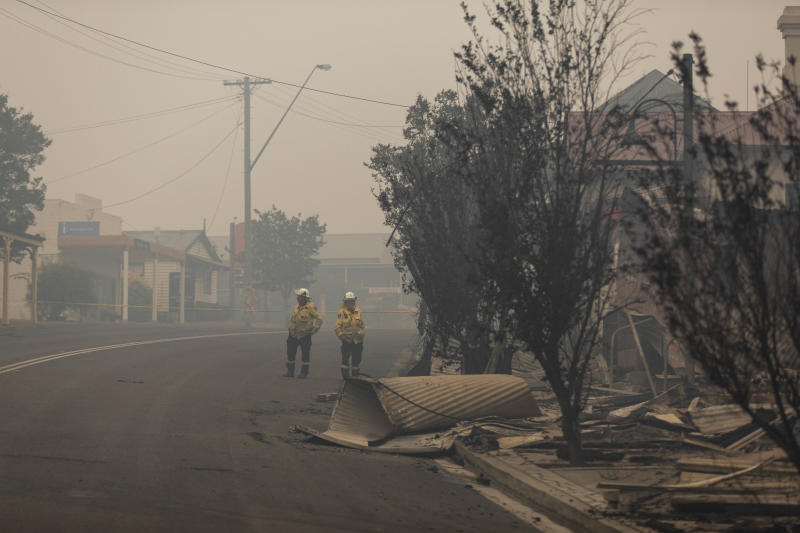 Bushfires have devastated the nearby town of Cobargo. Source: AAP