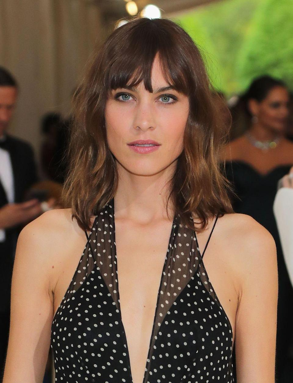 <p>A modernized version of the '70s shag haircut, complete with choppy bangs and layers mid-cut, was seen on A-listers like Taylor Swift to Alexa Chung a few years ago.</p>