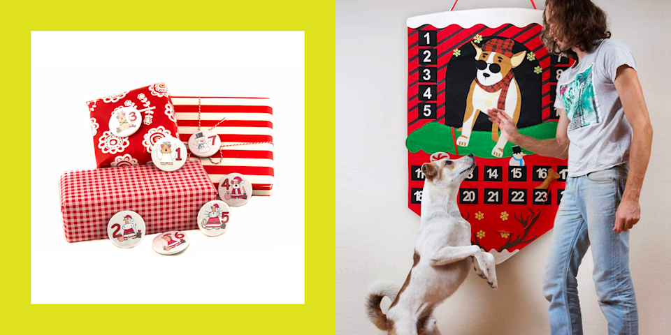 <p>If you're a pet parent, then you know how important it is to make sure your little fur ball is included in the celebrations. One easy way to spread the holiday joy to your bb is with a dog advent calendar. Yes, they do exist. </p><p>Even if your dog doesn't know what Christmas is, these calendars contain a hidden snack for each day leading up to Santa's arrival. Sure, they don't really get it, but has your pup ever turned down a treat? I think not. You're happy, they're happy, we're all happy.</p><p>Besides, even if these contain pupper swag, these cals are mostly for you. If you're the artsy type, you gotta try out one of the wooden ones. They're a blank slate that you can paint and put your own lil twist on. Maybe your pet will have fund dipping its paws into some pant too. Or perhaps you're the type of parent who spoils your dog with elaborately wrapped gifts. Below, you'll find dog advent calendar pins to fasten to each package too. Seriously, just try to resist these. </p>
