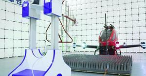 (Picture: EH216F undergoing the electromagnetic compatibility test)