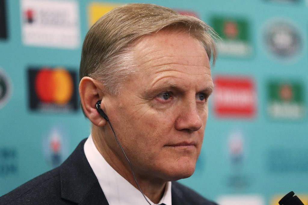 Ireland's head coach Joe Schmidt attends a press conference after the Rugby World Cup Japan 2019 pool draw in Kyoto on May 10, 2017. (AFP Photo/Dave ROGERS)