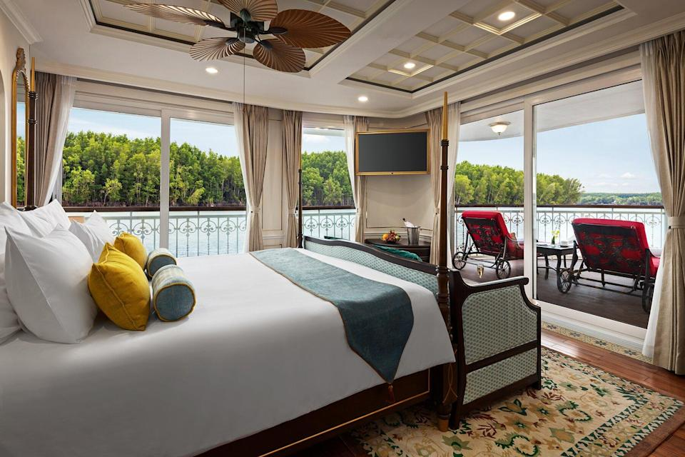 Grande Suite on the Mekong Jewel by Uniworld Boutique River Cruises
