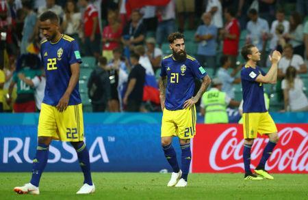 Soccer Football - World Cup - Group F - Germany vs Sweden - Fisht Stadium, Sochi, Russia - June 23, 2018 Sweden's Jimmy Durmaz looks dejected after the match REUTERS/Pilar Olivares