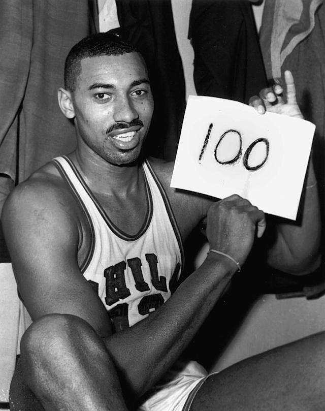 <p>No one has really come all that close to Chamberlain's 100-pointer against the New York Knicks on March 2, 1962. Kobe Bryant scored 81 in a game in 2006, and other than that only four other players have ever scored at least 70 in a single NBA game. What makes it particularly incredible that no one has caught Chamberlain yet is the fact that he scored all those points several years before the introduction of the 3-point line. </p>