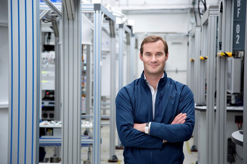 Chad Rigetti, founder and CEO of quantum computer maker Rigetti & Co, poses in the lab in Berkeley, California