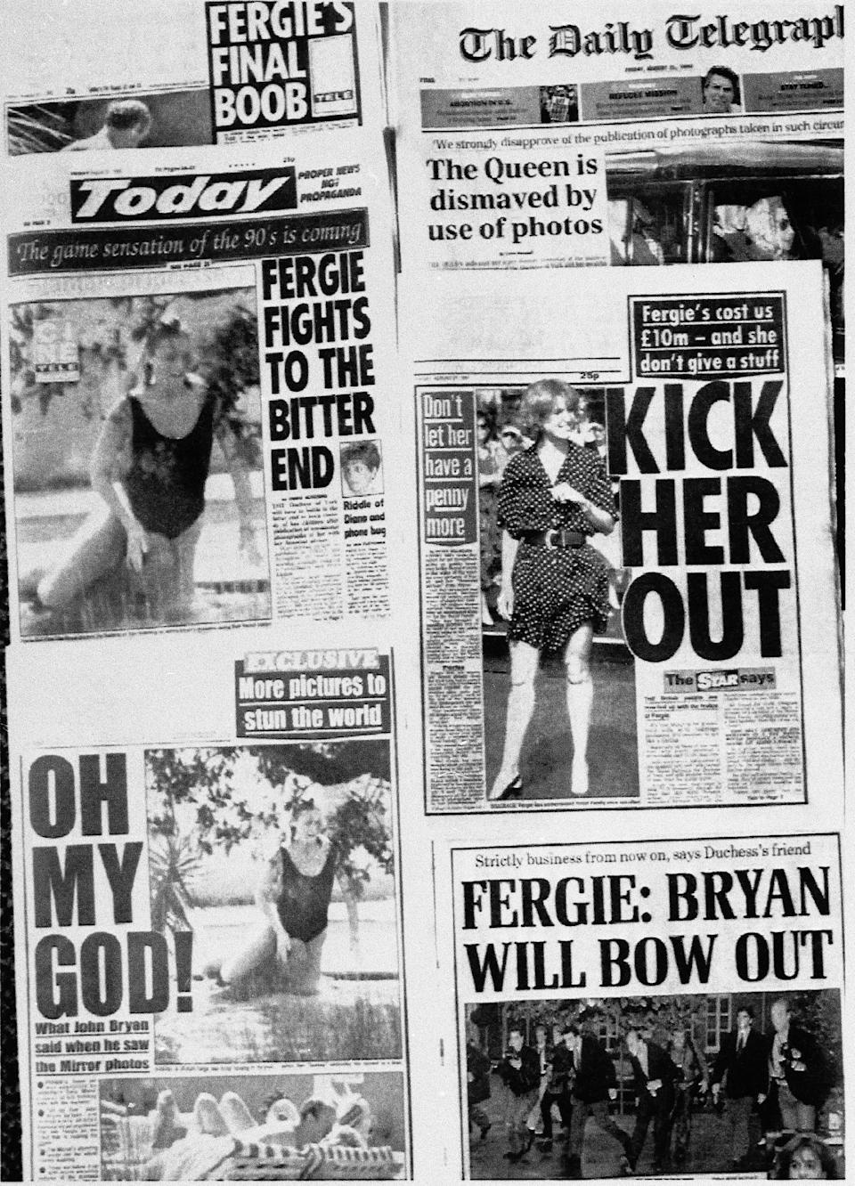 London daily papers on August 20, 1992 - Credit: ASSOCIATED PRESS.