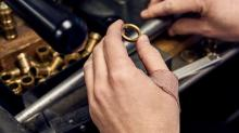 Grooms are passing up basic rings for macho wedding bands