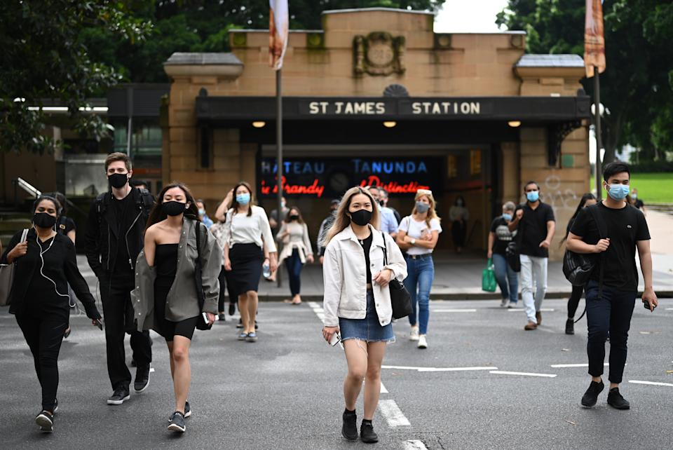 Sydney, which has largely avoided local infections in recent months, is back on high alert. Source: AAP