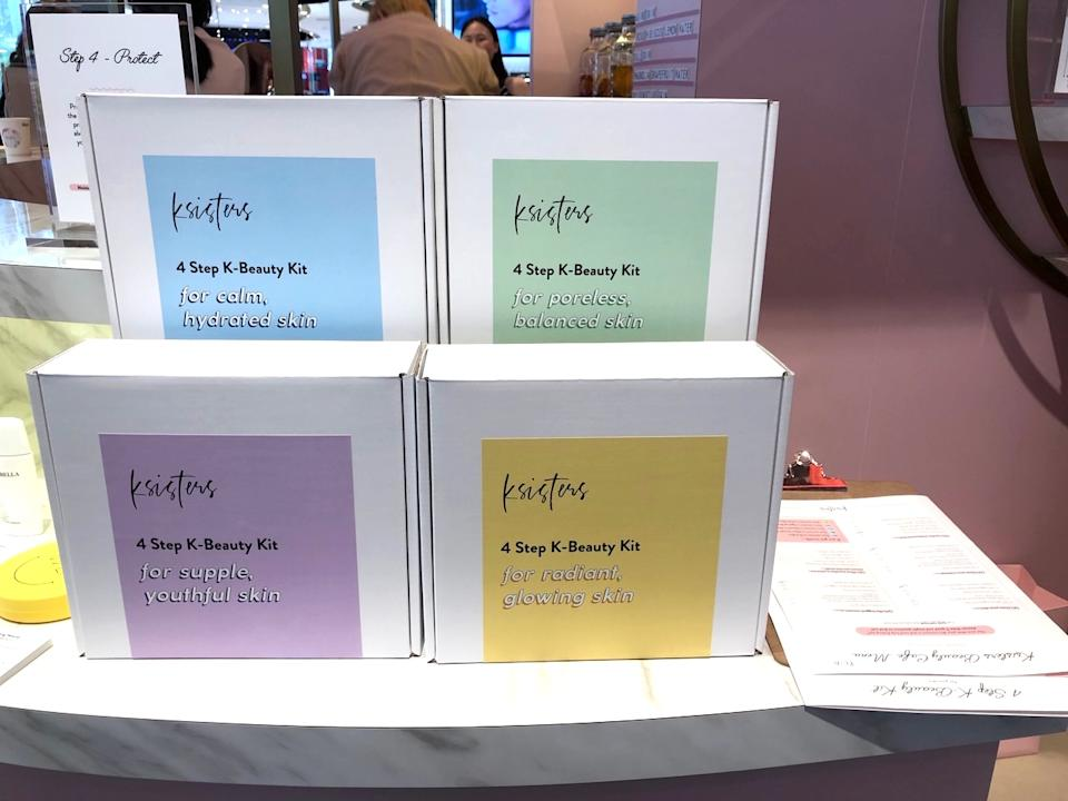 The four 4-step kits available. (PHOTO: Ksisters)
