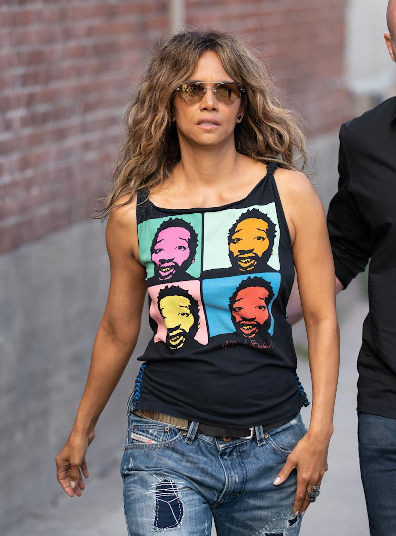 Halle Berry in the street