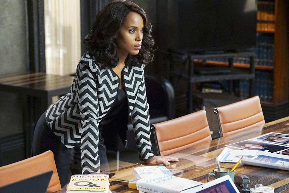 If you don't know who Olivia Pope is by now, you've been sleeping. Kerry Washington stars as Pope, a D.C. political fixer who is as smart as she is well dressed. When <em>Scandal</em> first premiered, Pope proved to be a necessary addition to our Thursday nights. Each episode was bursting with scintillating Capitol Hill secrets jam-packed into each episode. Pope was a rare on-screen view at a Black woman who is rewarded and respected for her hard work and talent. Glass cliff, who?