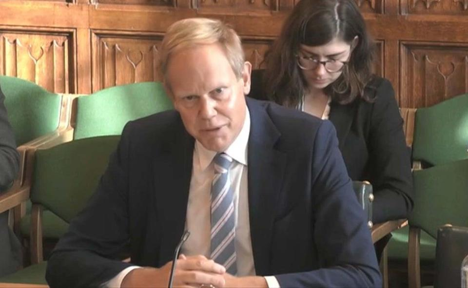 Home Office Permanent Secretary Matthew Rycroft faced questioning by MPs on Wednesday. (House of Commons/PA) (PA Wire)