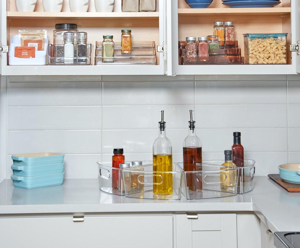 """<p>This <a href=""""https://www.popsugar.com/buy/iDesign-Customizable-Pantry-Organization-Essentials-Kit-576254?p_name=iDesign%20Customizable%20Pantry%20Organization%20Essentials%20Kit&retailer=wayfair.com&pid=576254&price=91&evar1=casa%3Aus&evar9=47575922&evar98=https%3A%2F%2Fwww.popsugar.com%2Fhome%2Fphoto-gallery%2F47575922%2Fimage%2F47575945%2FiDesign-Customizable-Pantry-Organization-Essentials-Kit&list1=gadgets%2Ckitchens%2Chome%20shopping&prop13=mobile&pdata=1"""" class=""""link rapid-noclick-resp"""" rel=""""nofollow noopener"""" target=""""_blank"""" data-ylk=""""slk:iDesign Customizable Pantry Organization Essentials Kit"""">iDesign Customizable Pantry Organization Essentials Kit</a> ($91, originally $130) has so many helpful products in it.</p>"""
