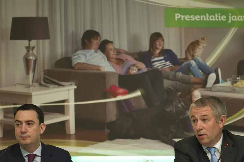 KPN's CEO Blok and CFO Hageman speak after the presentation of the 2011 fourth quarter and annual results in The Hague