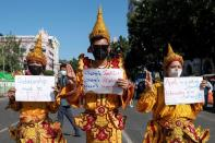 Protest against the military coup in Yangon