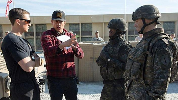 Jason Hall on the set of Thank You for Your Service photo Universal Pictures