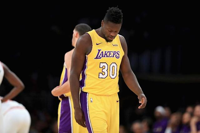 Los Angeles forward Julius Randle poured in a career-high 36 points and pulled down 14 rebounds in a 127-113 win over the Cleveland Cavaliers (AFP Photo/Sean M. Haffey)