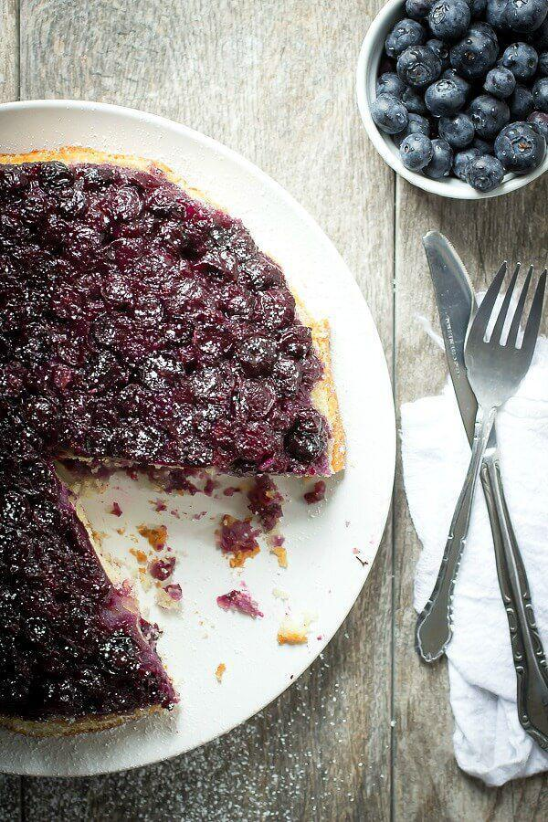 """<p>It's even better with a side of vanilla ice cream.</p><p>Get the recipe from <a href=""""http://foodnessgracious.com/2015/02/blueberry-lemon-upside-cake/"""" rel=""""nofollow noopener"""" target=""""_blank"""" data-ylk=""""slk:Foodness Gracious"""" class=""""link rapid-noclick-resp"""">Foodness Gracious</a>.</p>"""