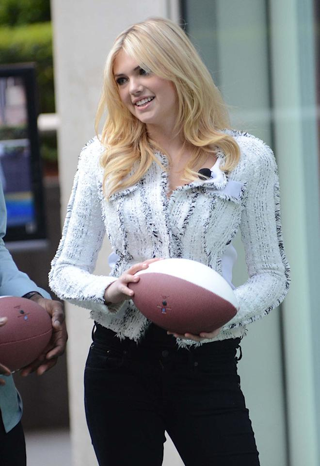 """Kate Upton, on """"Fox & Friends"""" in New York, NY April 25, 2012."""