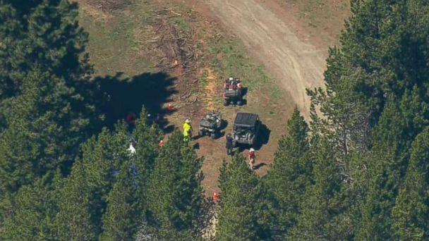 Authorities search for clues into the disappearance of Lindsey Baum near Ellensburg, Wash., on May 12, 2018. The girl's remains were found in the region last fall after she went missing in 2010. (KOMO)