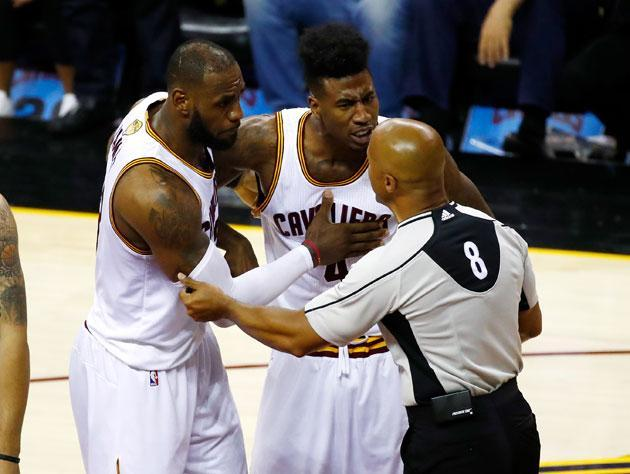 There was a lot of talking in Game 4. (Getty Images)