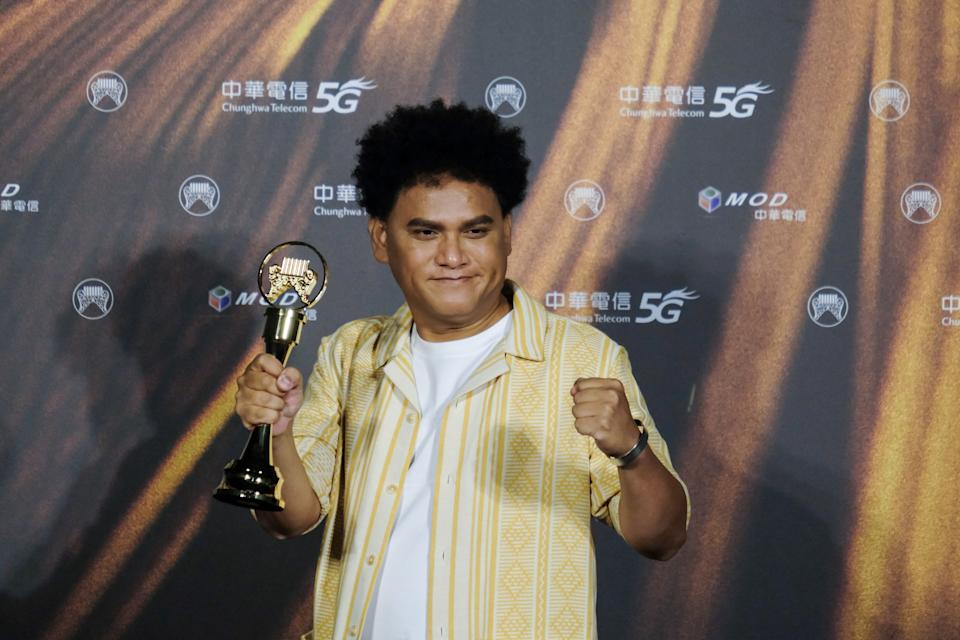 TAIPEI, TAIWAN - AUGUST 21: Taiwanese singer Sanpuy Katatepan Mavaliyw poses at the 32nd Golden Melody Awards in Taipei, Taiwan on August 21, 2021. (Photo by Walid Berrazeg/Anadolu Agency via Getty Images)
