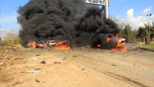 yria bus attackleft at least 112 Syrian refugees dead