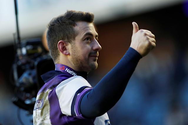 Rugby Union - Six Nations Championship - Scotland vs France - BT Murrayfield, Edinburgh, Britain - February 11, 2018 Scotland's Greig Laidlaw celebrates after the match Action Images via Reuters/Lee Smith