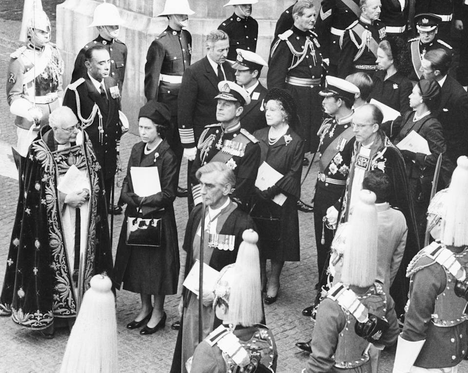 Members of the royal family at Lord Mountbatten's funeral, 5 September 1979Photo by Central Press/Hulton Archive/Getty Images