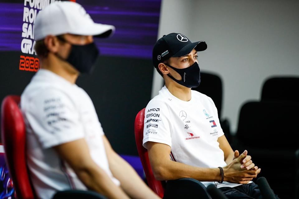 Russell may not be able to improve his Mercedes chances in one race but he can certainly impact Bottas's hopesAFP via Getty