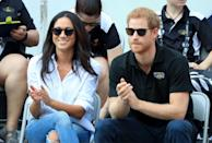 """<p><a href=""""https://www.townandcountrymag.com/society/a13970045/misha-nonoo-meghan-markle-prince-harry-matchmaker/"""" rel=""""nofollow noopener"""" target=""""_blank"""" data-ylk=""""slk:Nonoo"""" class=""""link rapid-noclick-resp"""">Nonoo</a> and the Duchess have been close friends for years. Meghan wore the designer's now-famous Husband Shirt to <a href=""""https://www.townandcountrymag.com/society/tradition/a12466469/meghan-markle-prince-harry-hold-hands-invictus-games/"""" rel=""""nofollow noopener"""" target=""""_blank"""" data-ylk=""""slk:her first public appearance with Harry at the Invictus Games"""" class=""""link rapid-noclick-resp"""">her first public appearance with Harry at the Invictus Games</a> in 2017.</p><p><a class=""""link rapid-noclick-resp"""" href=""""https://go.redirectingat.com?id=74968X1596630&url=https%3A%2F%2Fmishanonoo.com%2Fproducts%2Fthe-husband-shirt-white&sref=https%3A%2F%2Fwww.townandcountrymag.com%2Fsociety%2Ftradition%2Fg36386449%2Fmeghan-markle-white-button-down-shirts%2F"""" rel=""""nofollow noopener"""" target=""""_blank"""" data-ylk=""""slk:Shop Now"""">Shop Now</a></p>"""