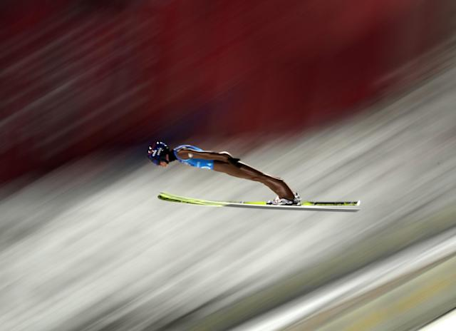 Ski Jumping - Pyeongchang 2018 Winter Olympics - Men's Team Trial round - Alpensia Ski Jumping Centre - Pyeongchang, South Korea - February 19, 2018 - Kamil Stoch of Poland competes. REUTERS/Carlos Barria TPX IMAGES OF THE DAY