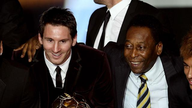 Brazil great Pele has offered a withering dismissal of Barcelona star Lionel Messi's claims to being the best footballer of all time.