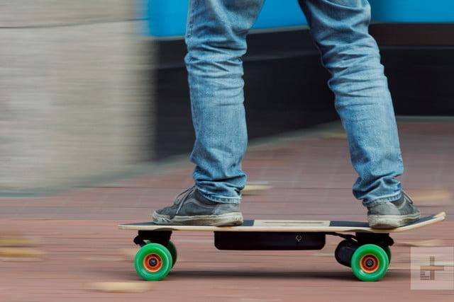 Riptide R1 Elite hands-on electric skateboard review riding close