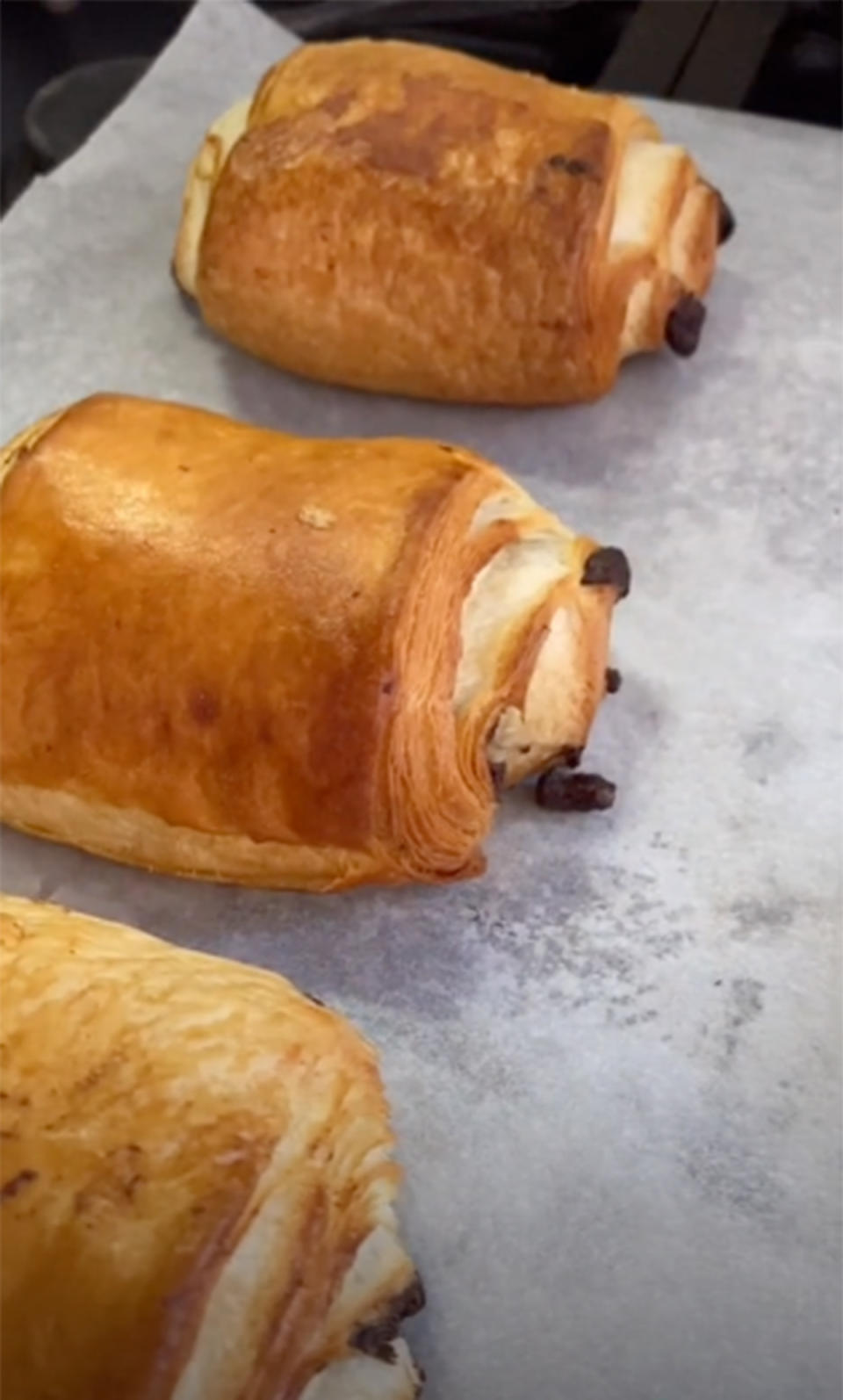 A TikTok video of Coles Frozen Bake At Home Pain Au Chocolat 6 Pack by @lucyhelenak