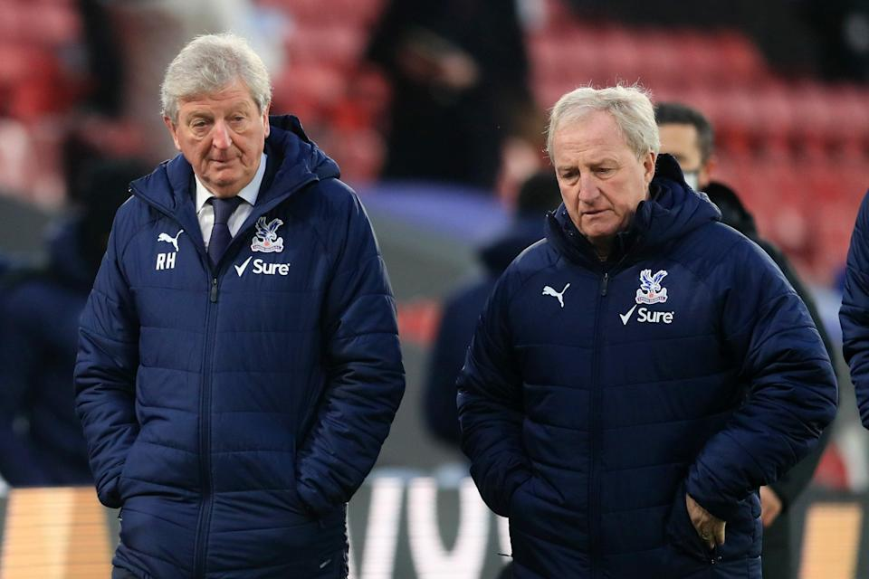 Crystal Palace manager Roy Hodgson (left) credited Ray Lewington (right) for producing Crystal Palace's second-half performance (Getty)