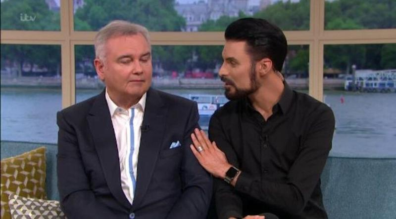 Eamonn Holmes was comforted by Rylan Clark-Neal on This Morning (Photo: ITV)